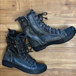 Aldo Black & Silver Combat Boots